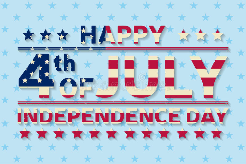 Happy Independence Day background template. Happy 4th of july poster. Happy 4th of july and American flag. Patriotic banner. royalty free illustration