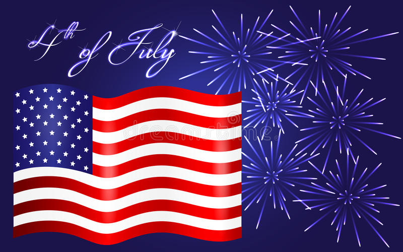 Happy Independence Day background, 4th of July. Background of happy Independence Day background, 4th of July vector illustration