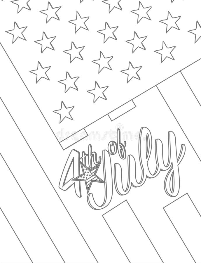Happy independence day ,Forth of july design graphic concept. Vector Illustration stock illustration