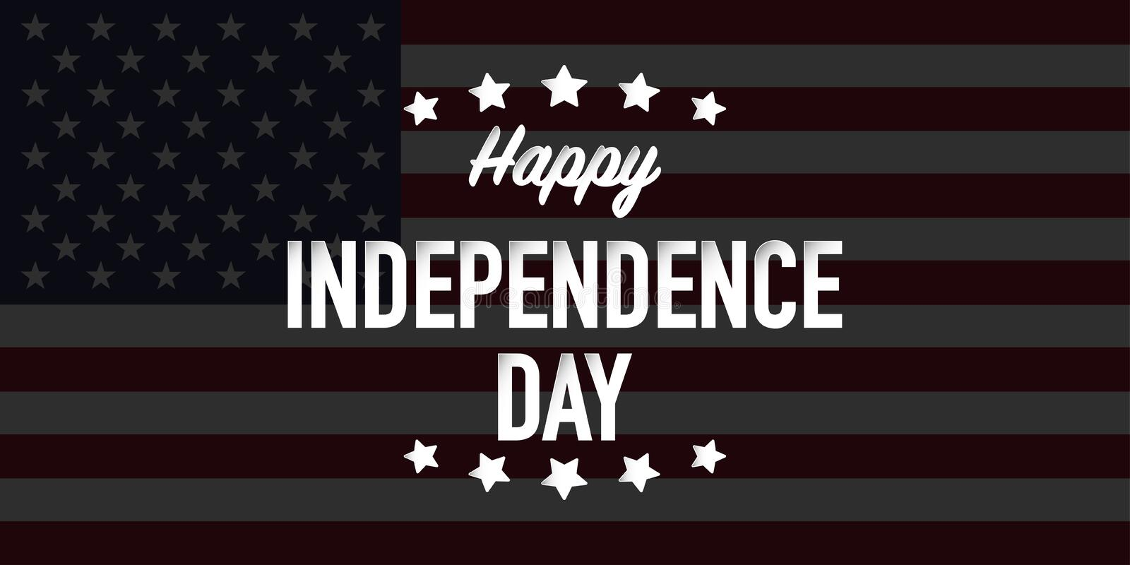 Happy independence day fourth of july vector vector illustration