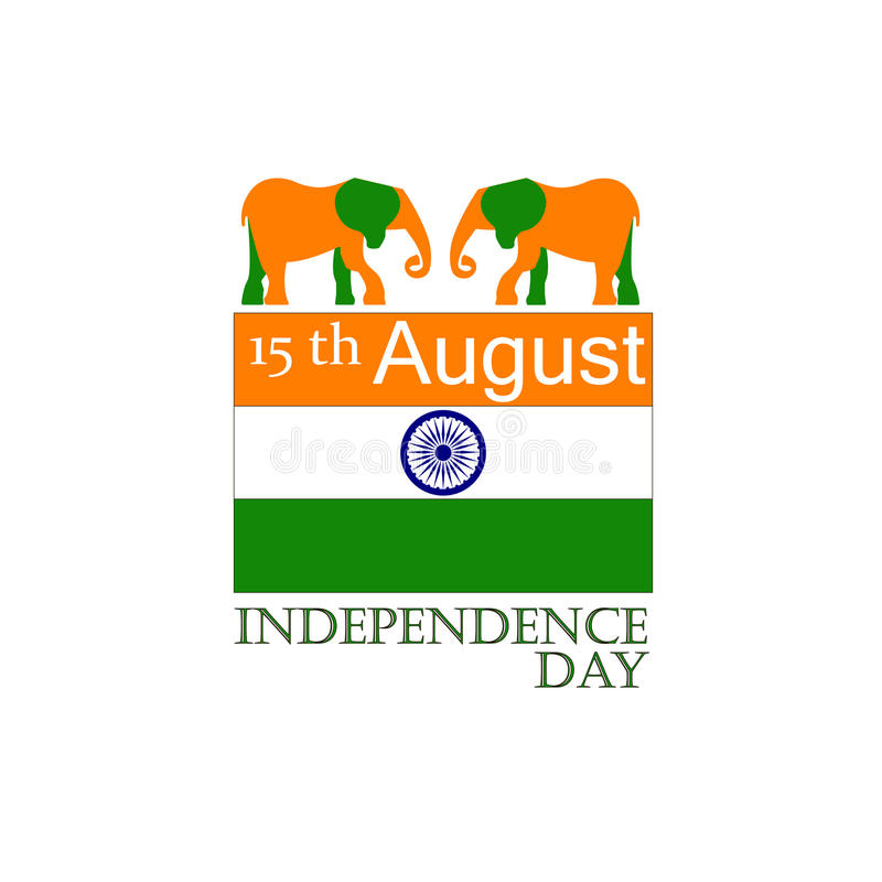 Happy Independence Day India Flyer Design For Th August Stock