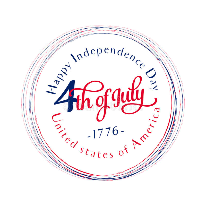 Happy Independence Day. July 4th. Fourth. Vector - Memorial. Flag. Patriotic celebrate royalty free illustration