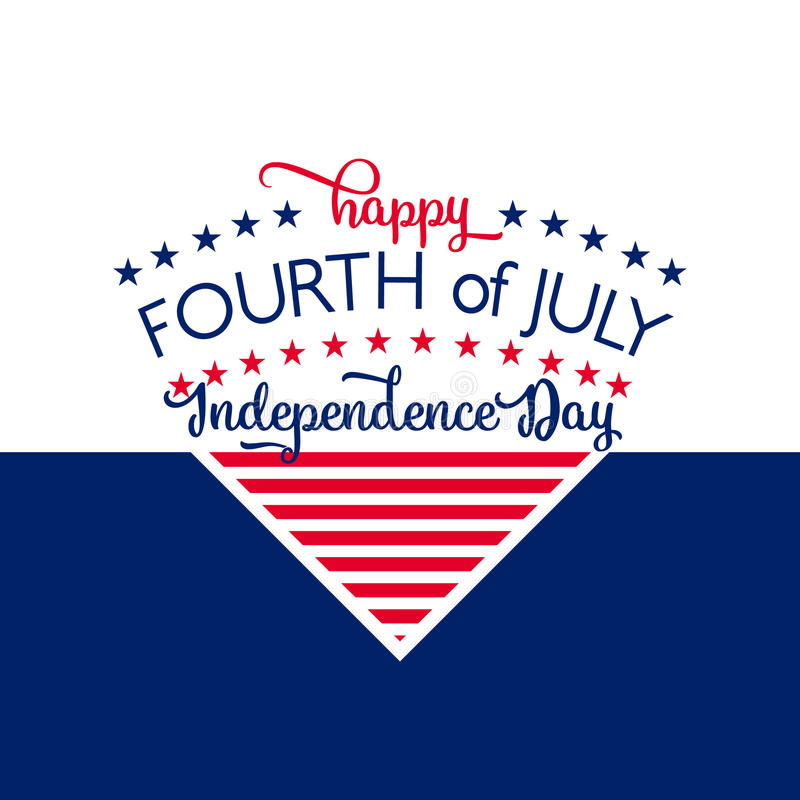 Happy Independence Day. July 4th. Fourth. Vector - Memorial. Flag. Patriotic celebrate. Happy Independence Day - July 4th - Fourth of July Vector - Memorial Day vector illustration