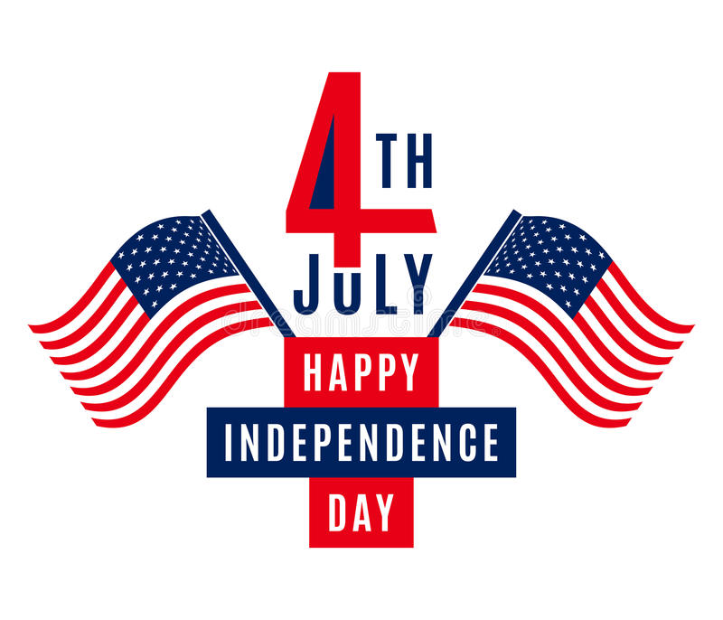 Happy Independence Day - July 4th USA - Memorial Day - Flag Day - Patriotic. Happy Independence Day - July 4th - Fourth of July vector illustration - Memorial vector illustration