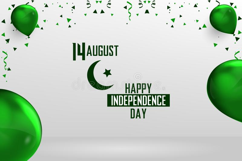Happy Independence Day Pakistan, 14 August Pakistani Independence Day vector illustration