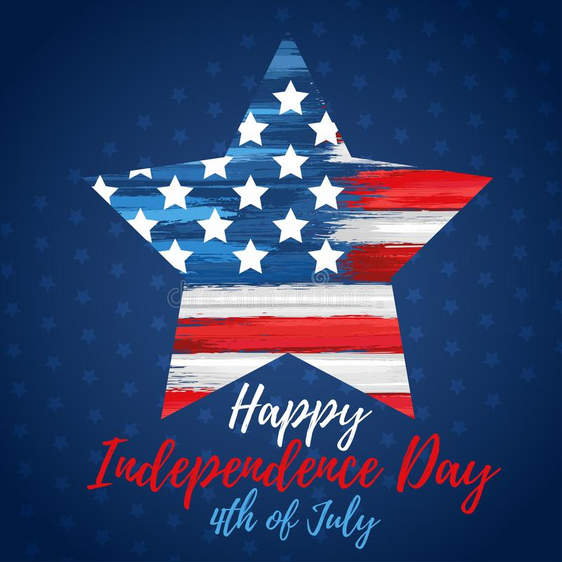 Happy independence day 4th of July stock illustration