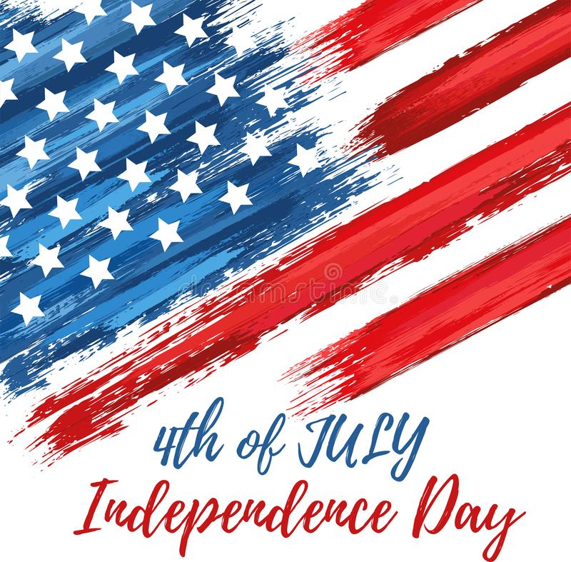 Happy independence day 4th of July vector illustration