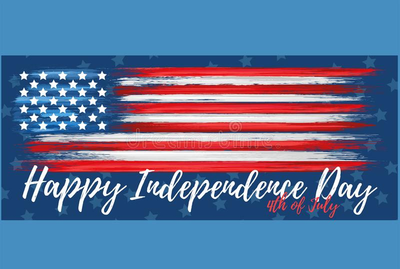 Happy independence day 4th of July royalty free illustration