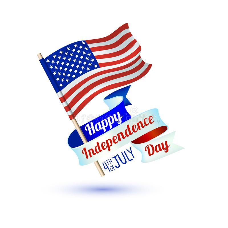 Happy Independence Day. 4th of July. USA flag. Happy Independence Day. 4th of July. USA vector flag vector illustration