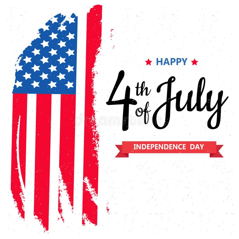 Happy independence day or 4th of July vector background or banner graphic. Happy independence day or 4th of July vector background vector illustration