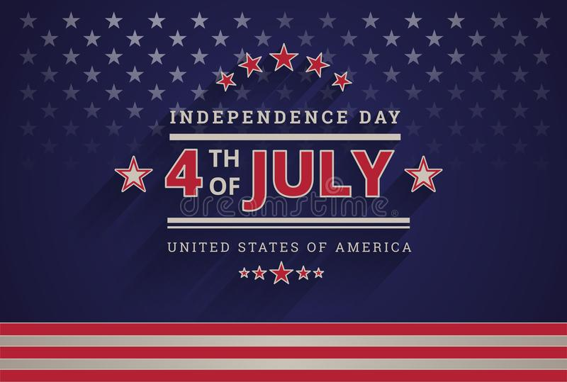 Happy Independence Day USA 4th of July dark blue background - 4th of July USA independence day celebration vector vector illustration