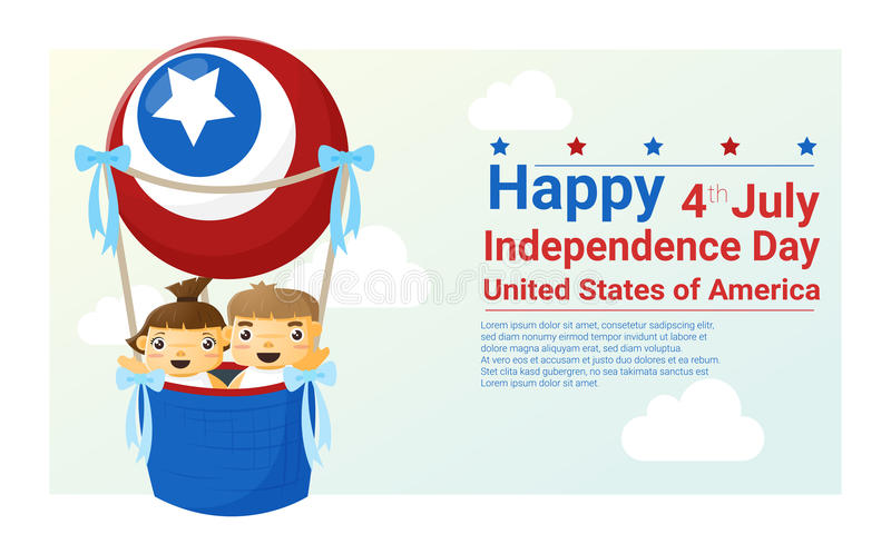 Happy independence day USA 4th of july vector illustration