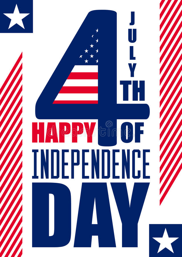 Happy Independence Day vertical background. July 4th. Fourth. Vector - Memorial. Flag. Patriotic celebrate. Happy Independence Day vertical background - July 4th stock illustration