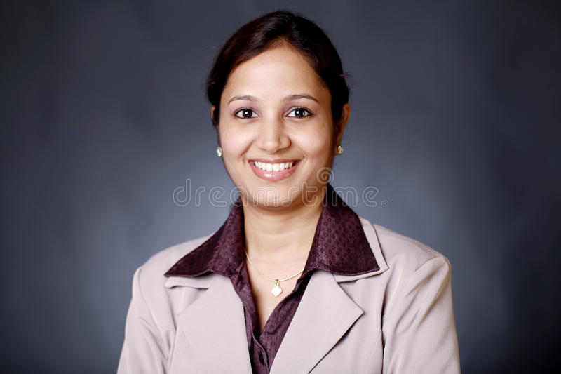 Happy Indian businesswoman stock photography