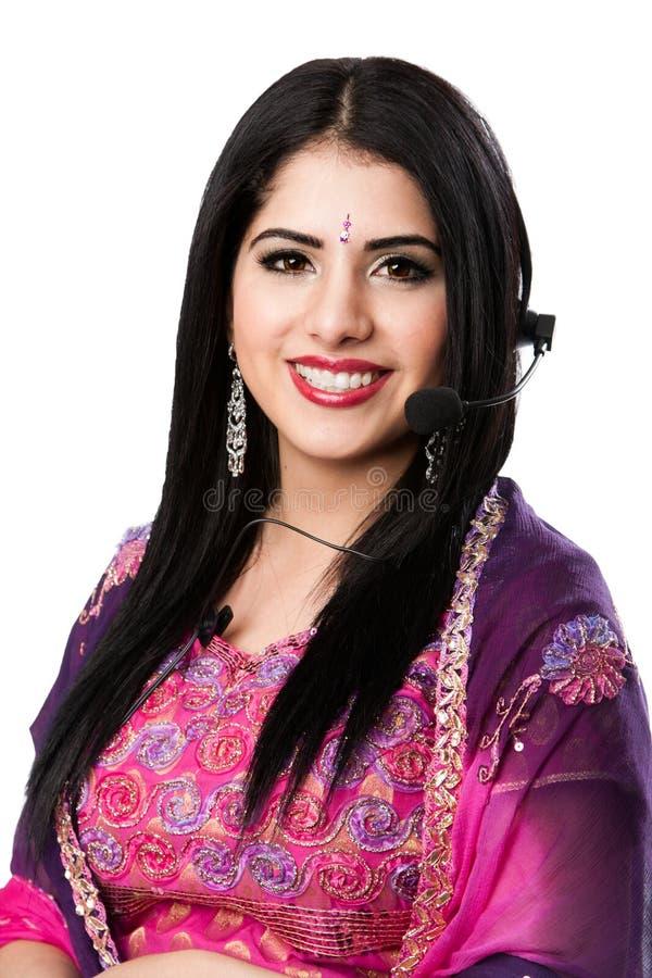 Happy Indian Customer Service Representative stock photos
