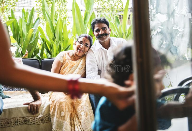 A happy Indian family royalty free stock photography