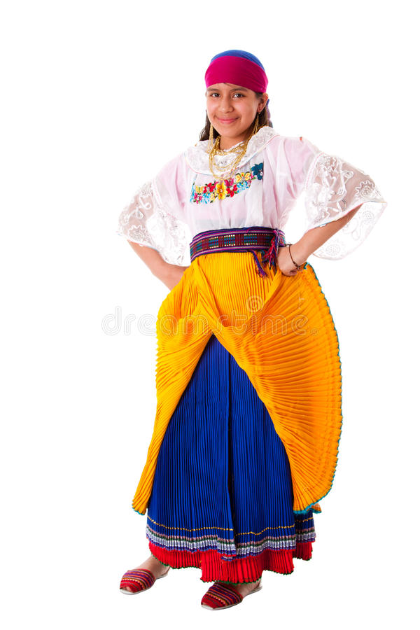 Happy indiginous Latina girl stock photos