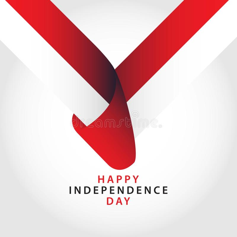 Happy Indonesia Independence Day Vector Template Design Illustrator royalty free illustration