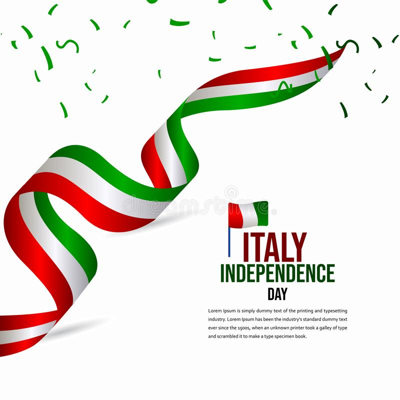 Happy Italy Independence Day Celebration Vector Template Design Illustration vector illustration