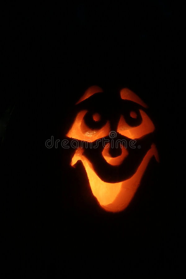 Happy Jack-o-Lantern stock photography