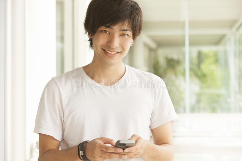 Happy japanese man royalty free stock images