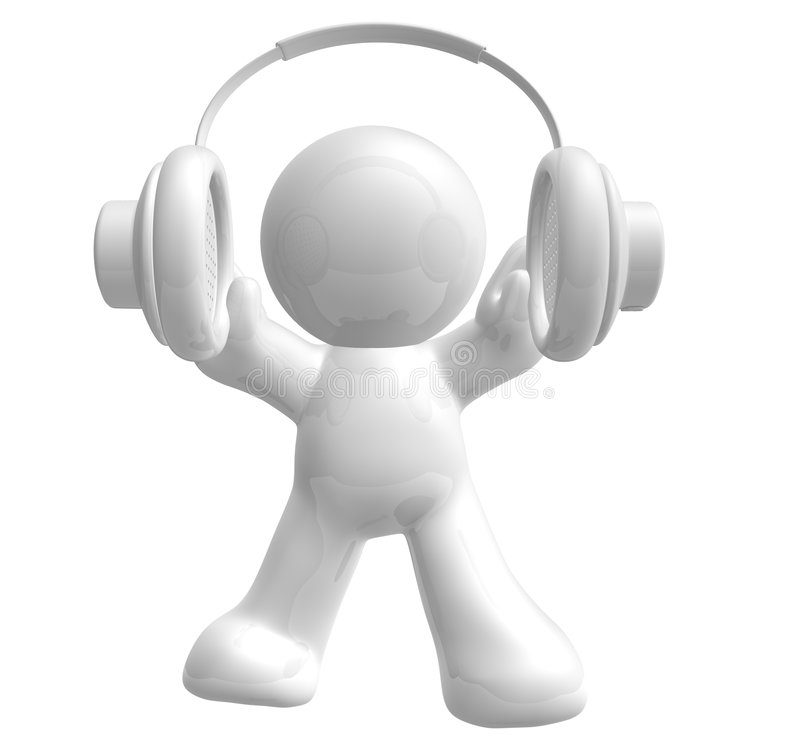 Happy And Joy Of Listening Music Royalty Free Stock Images