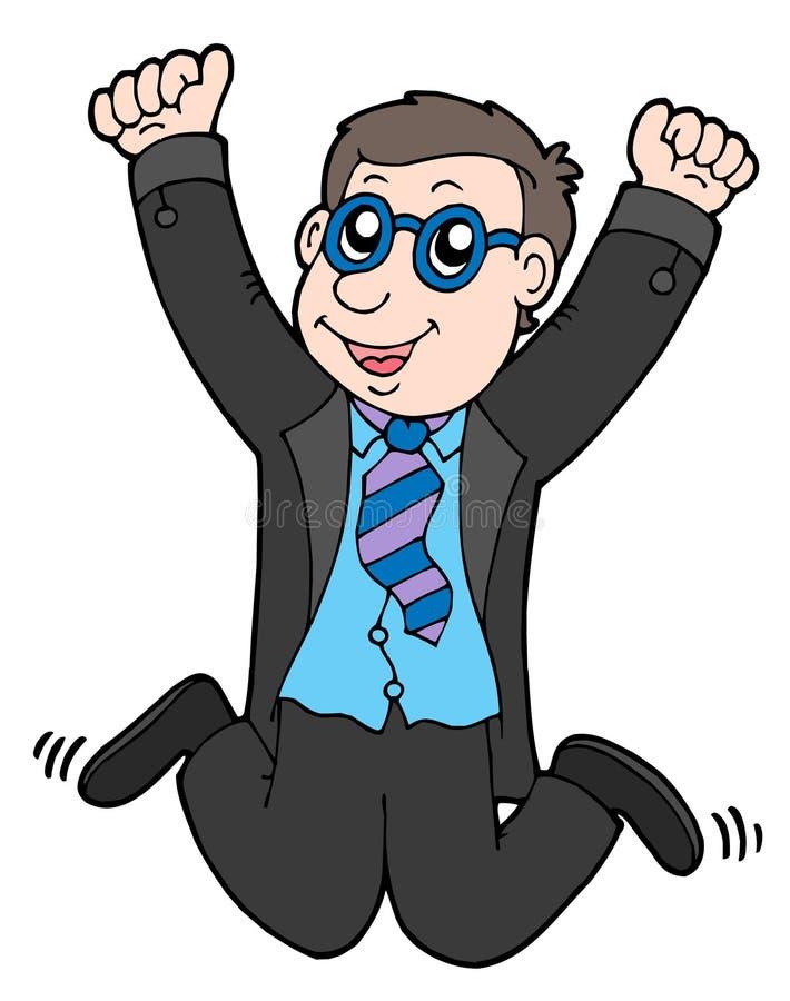 Free Happy Jumping Businessman 2 Stock Photo - 6687360