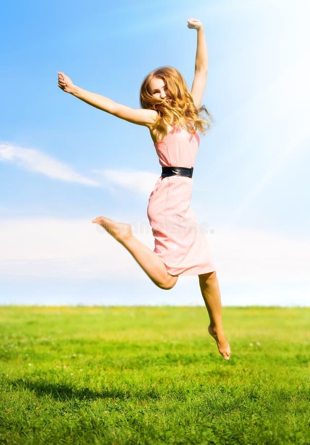 Free Happy Jumping Girl Royalty Free Stock Photos - 6384228