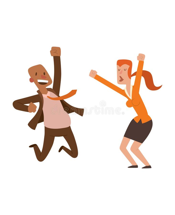 Happy Jumping People Vector Set. Stock Vector ...