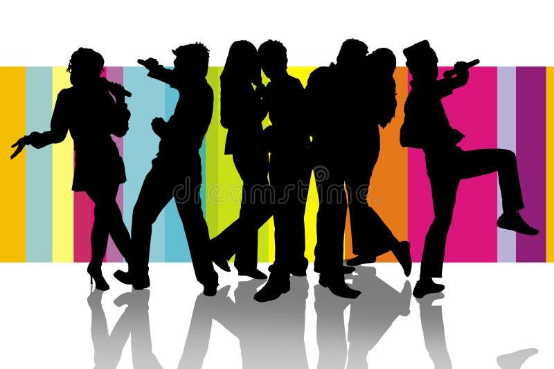 Download Happy Karaoke party stock illustration. Image of festive - 7494601