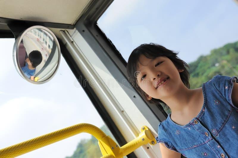Download Happy kid in bus stock image. Image of active, black - 16396095