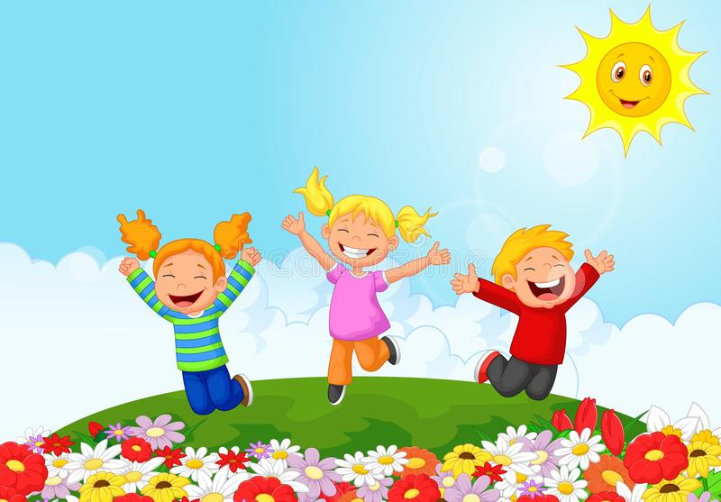 Happy kid cartoon vector illustration