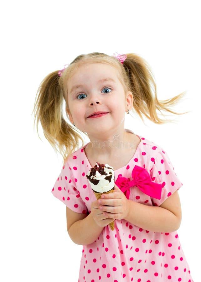 Download Happy Kid Girl Eating Ice Cream Stock Photo - Image: 30080268