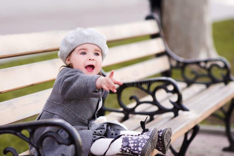 Stylish baby girl royalty free stock photography