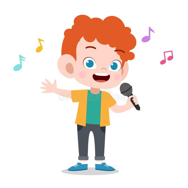 Free Happy Kid Play Sing Karaoke Music Vector Stock Image - 157366341
