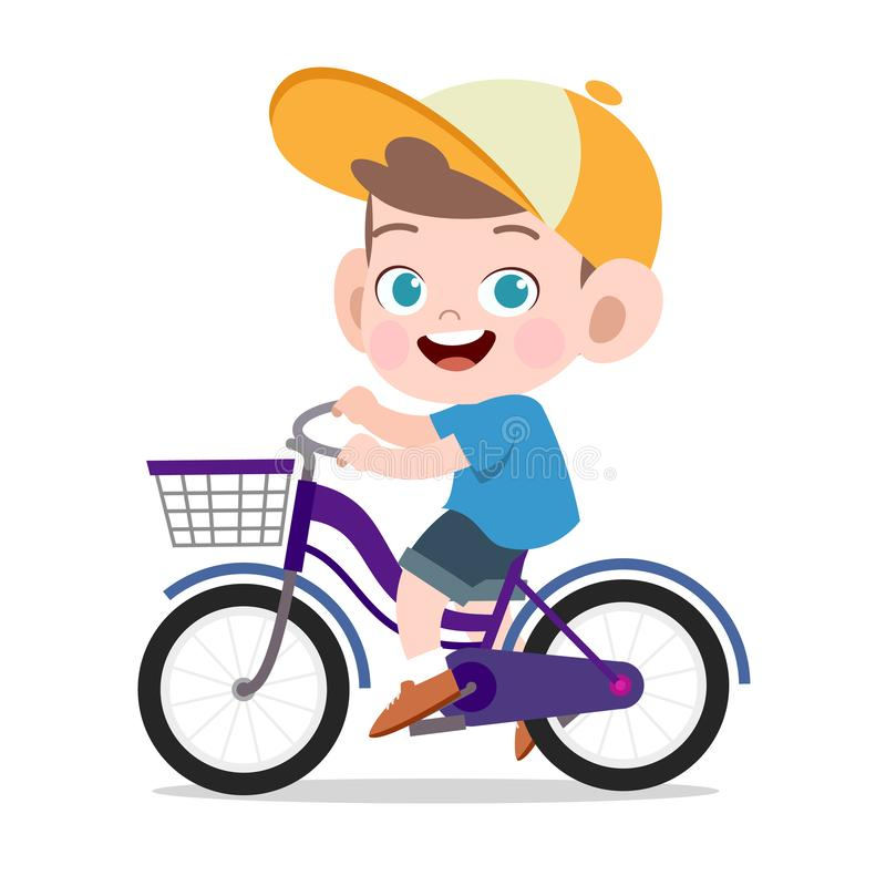 Free Happy Kid Sport Bicycle Vector Illustration Stock Photos - 157366553