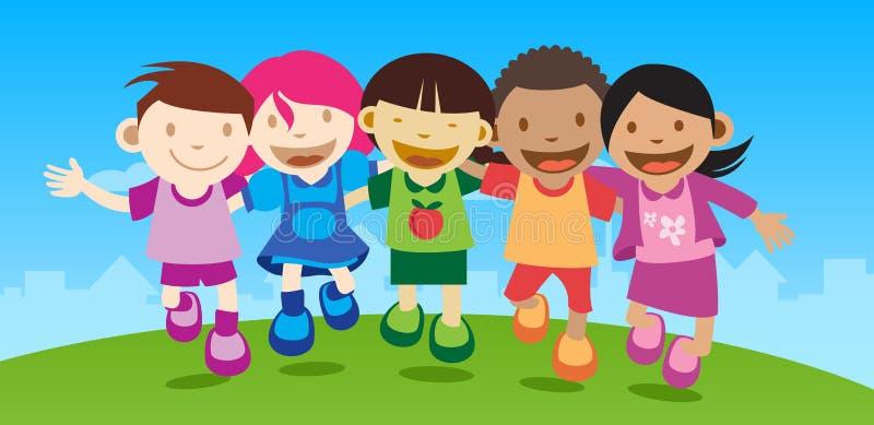Download Happy kids stock illustration. Illustration of ethnicity - 10550675