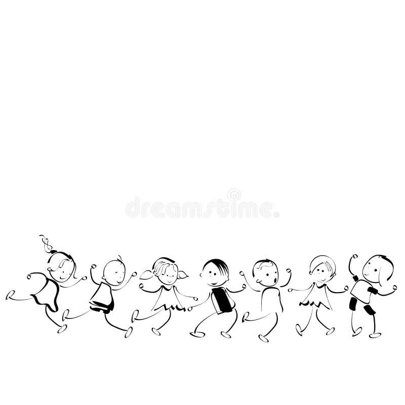 Download Happy kids stock vector. Illustration of action, legs - 10973853