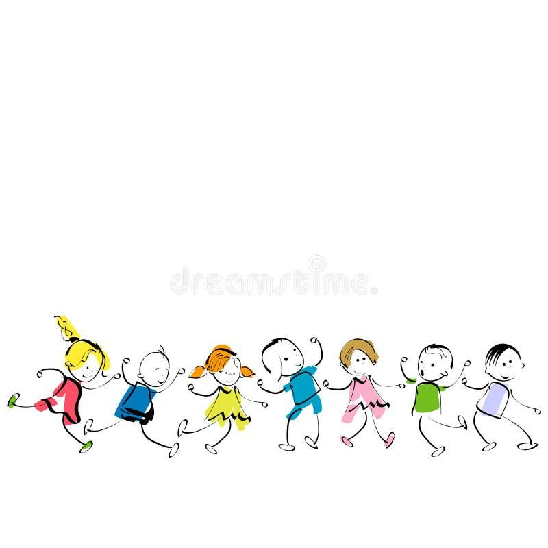 Download Happy kids stock vector. Image of children, kids, group - 11048735