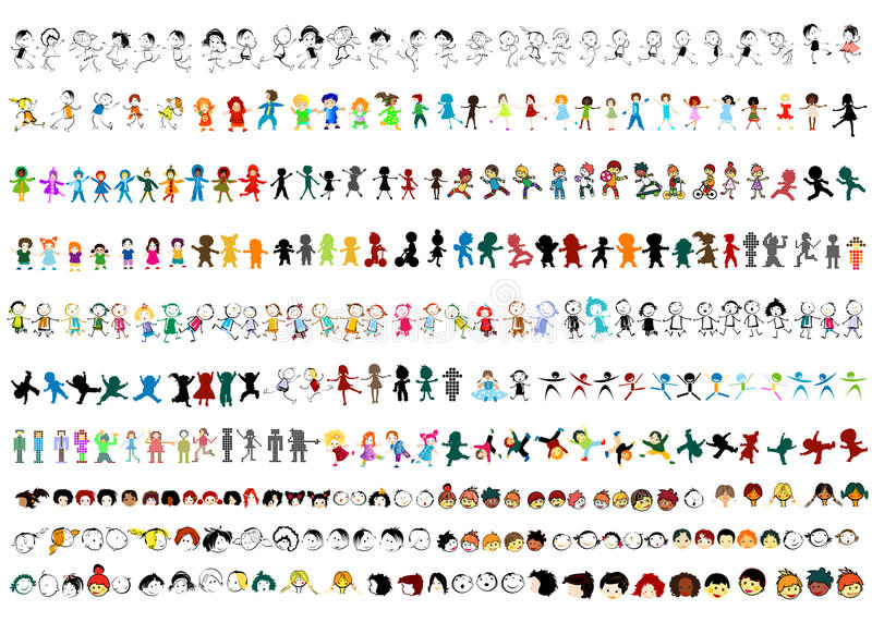 Happy kids vector illustration