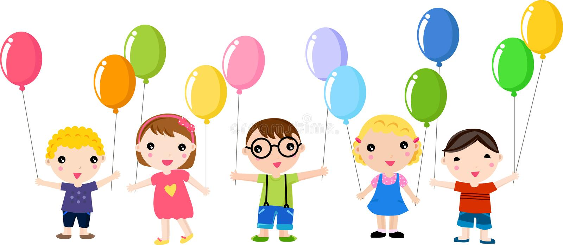 Download Happy kids stock vector. Image of cartoon, cover, balloon - 15195941