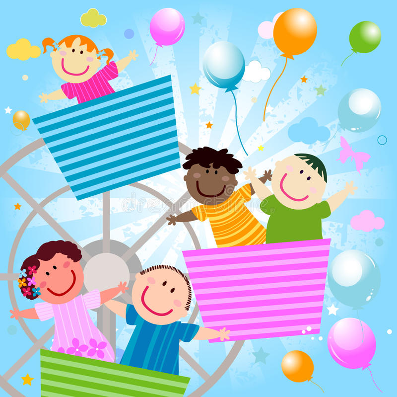 Download Happy kids stock vector. Image of happiness, expressions - 17467683