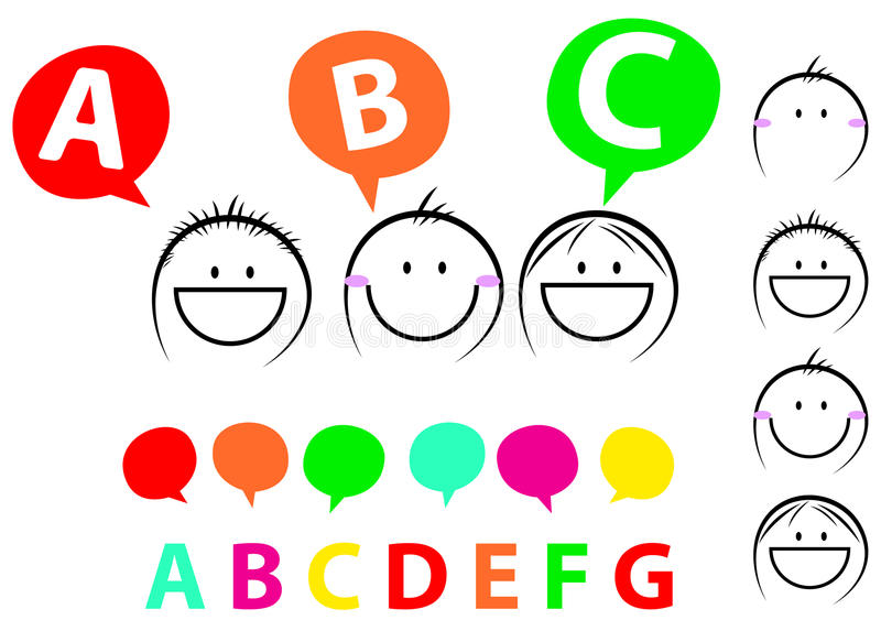 Download Happy kids stock vector. Image of area, alphabetic, cute - 18489112