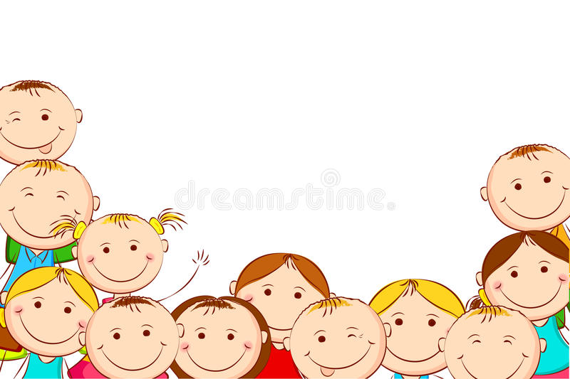 download happy kids stock vector illustration of funny child 26258778