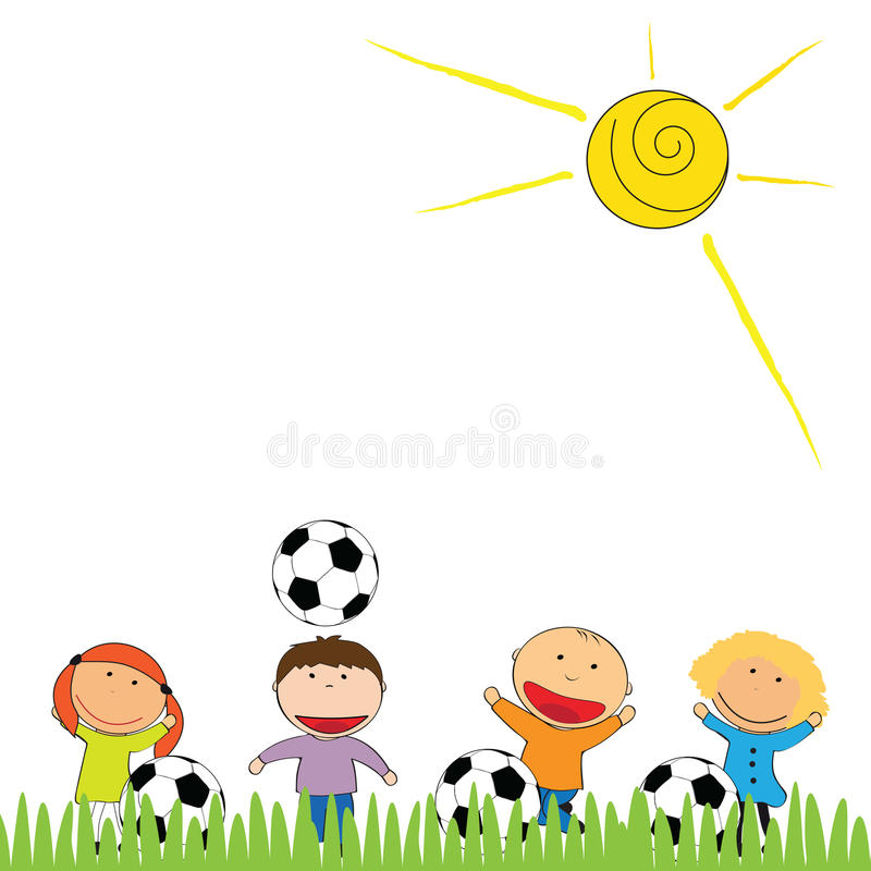 Free Happy Kids And Soccer Royalty Free Stock Image - 42568256