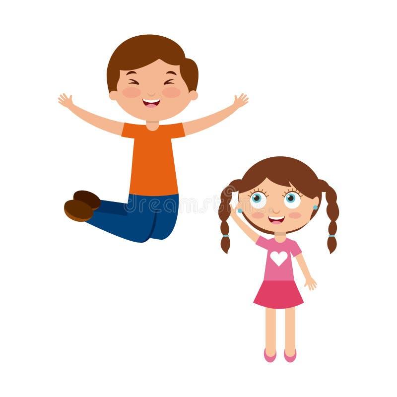 Happy kids design. Happy cute kids over white background. colorful design. illustration stock illustration