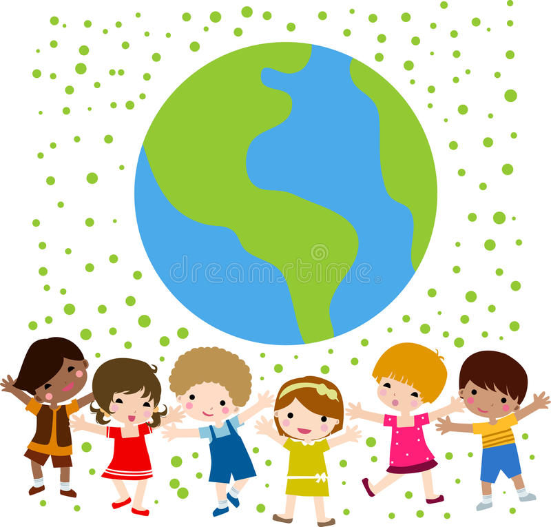 Download Happy kids and earth stock vector. Illustration of child - 11778714