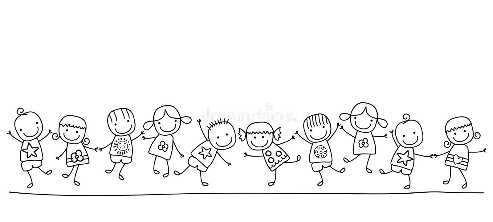 Happy kids. Group of happy kids playing