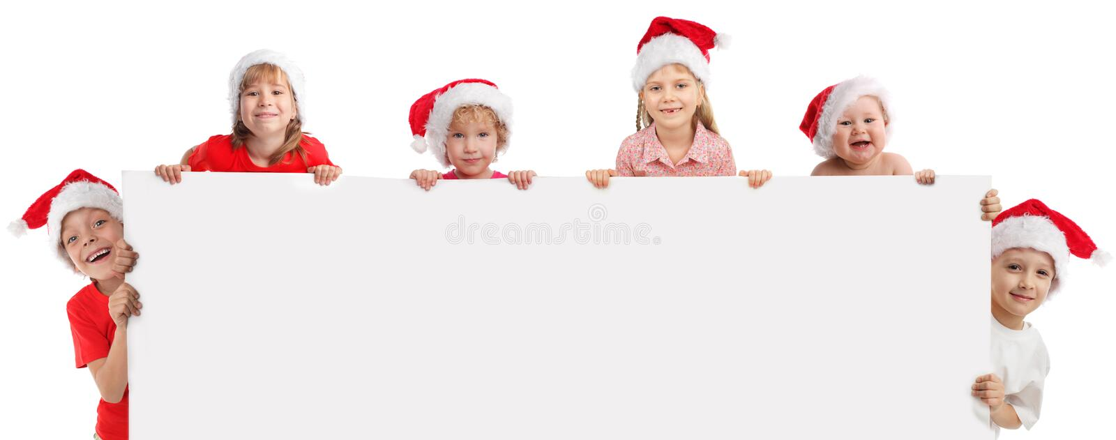 Download Happy Kids Holding The Banner In His Hand Stock Photo - Image: 21271744