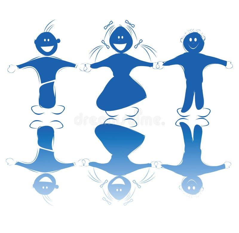Download Happy kids holding hands stock vector. Image of happy - 10842936